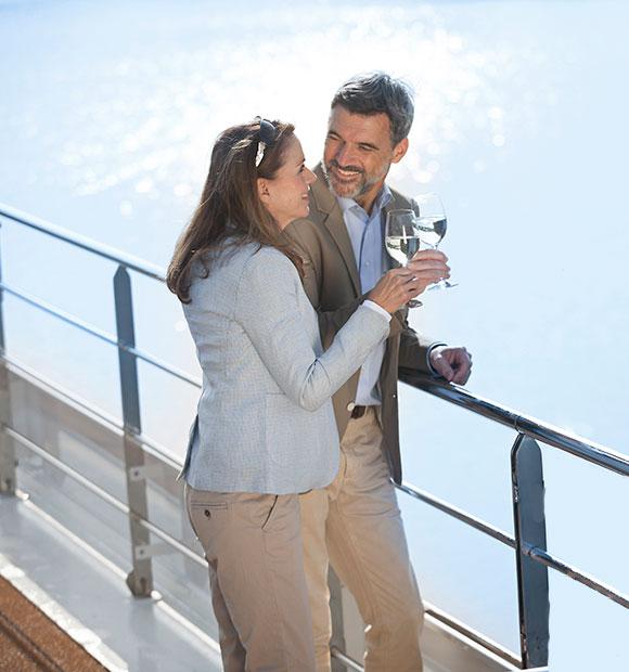 Couple on-board Emerald Waterways River Cruise