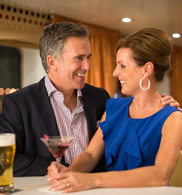 Couple on-board a Scenic River Cruise