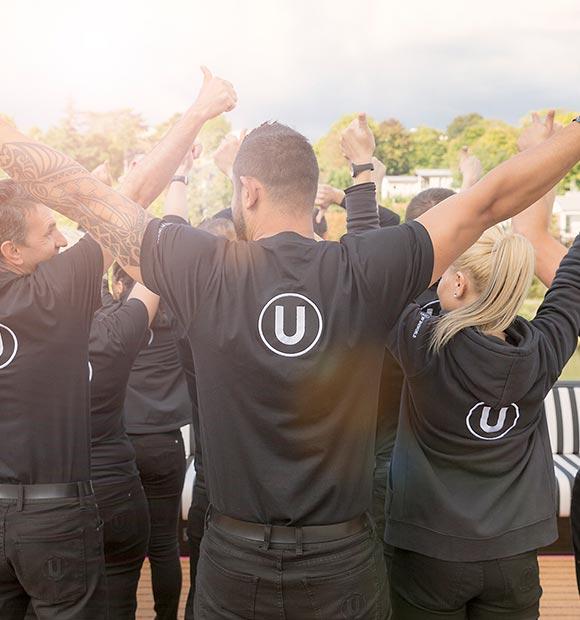 The crew on-board U by Uniworld