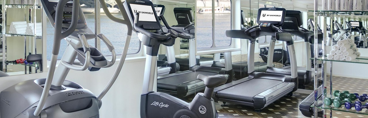 Gym facilities on-board U by Uniworld