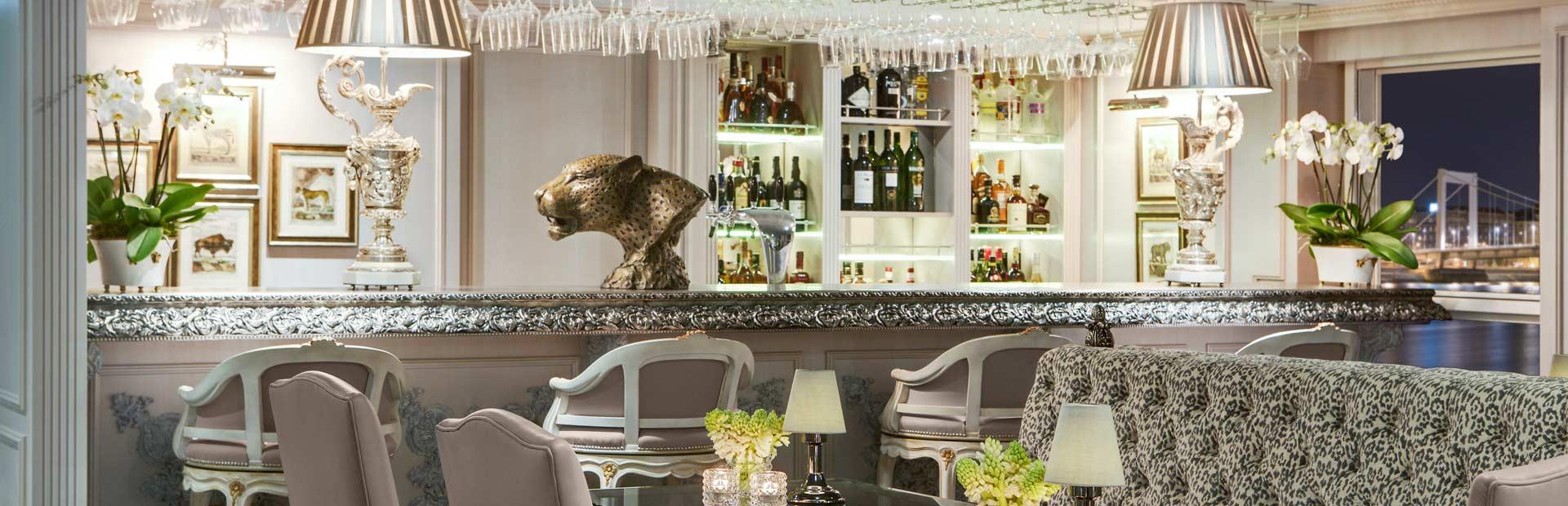Uniworld SS Maria Theresa Leopard Lounge