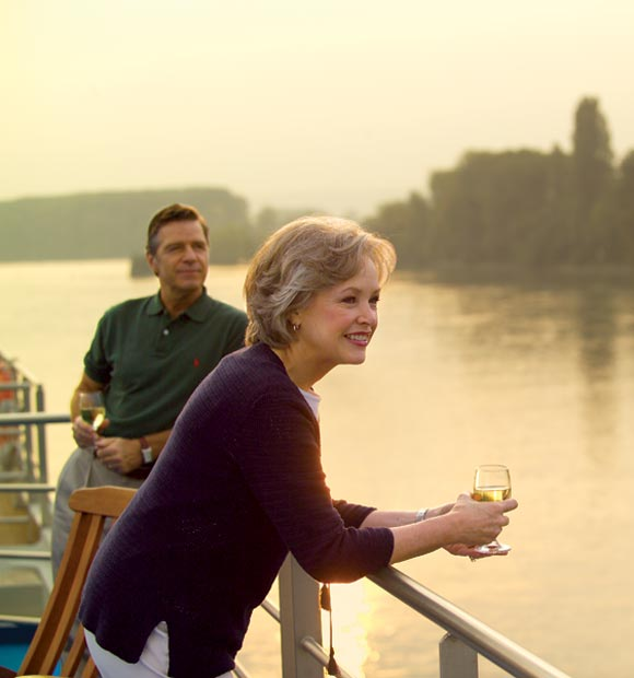 Couple on-board Viking Cruises