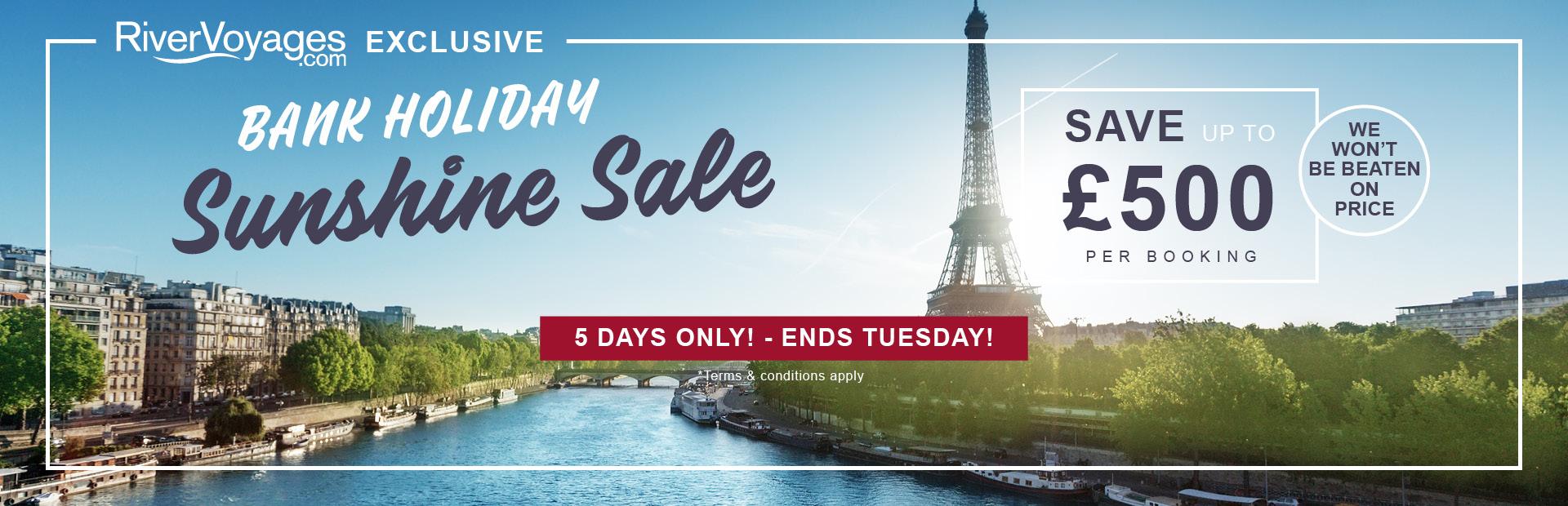 RiverVoyages - Bank Holiday Sale