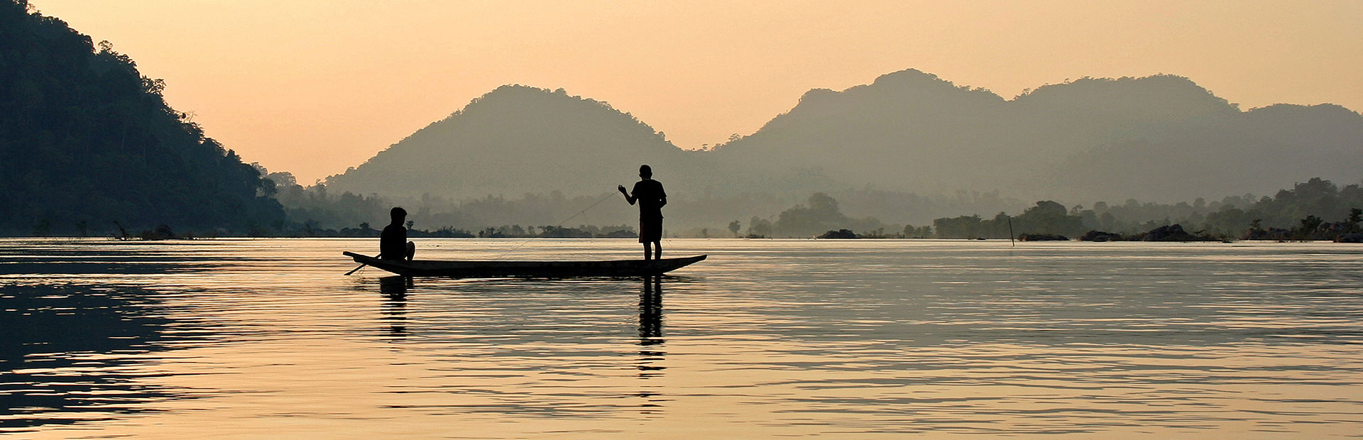 Mekong River at Sunset